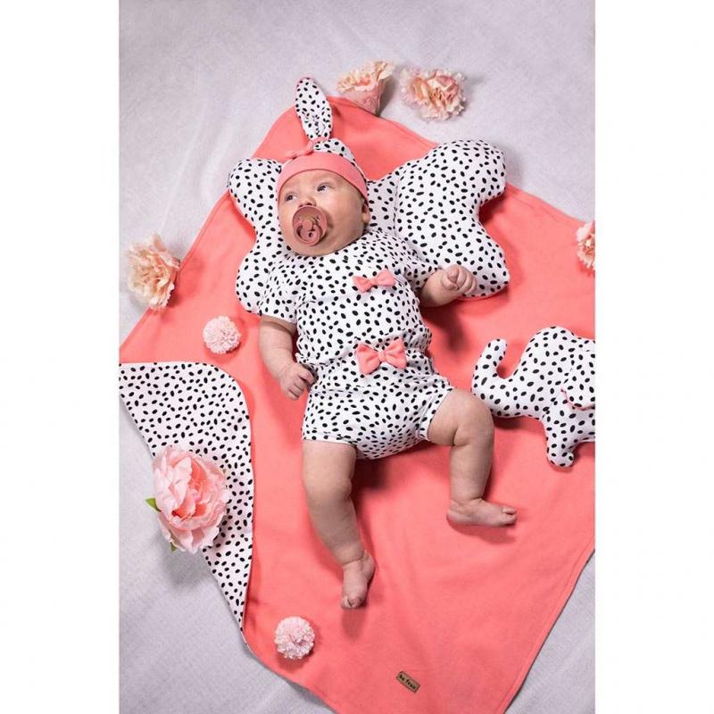 Dojčenské bavlnené body s bočným zapínaním Nicol Alice