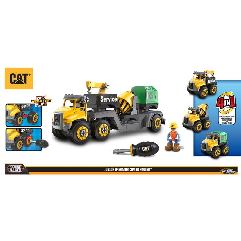 CAT 3v1 servisní trak + míchačka + popeláři