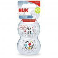 NUK Dudlík Freestyle fotbalová edice duopack V3
