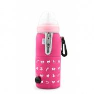 NUVITA Cestovní ohřívač lahve se zipem, růžová
