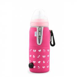 NUVITA Cestovný ohrievač fľaše so zipsom, ružový