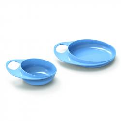Talíř a miska, Pastel blue