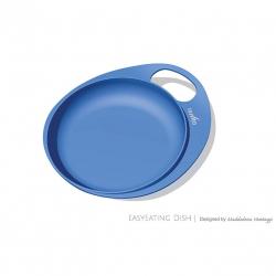 NUVITA Talíře se zvýšeným okrajem 2ks, modrá