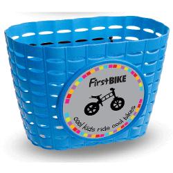 First Bike košík na riadidlá modrý