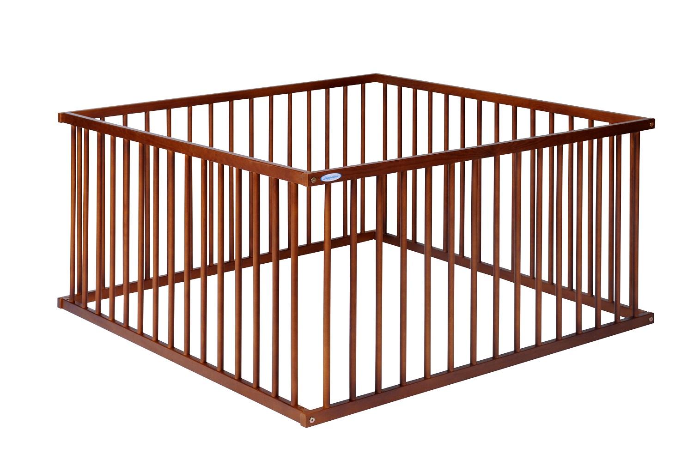 Dřevěná ohrádka Puppolina 120 x 120 cm kaštan
