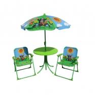 Záhradný set Krtko - 2 stoličky, stolík, dáždnik