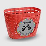 košík červený
