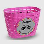 košík růžový