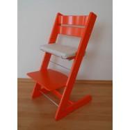 Rosnące krzesełko JITRO KLASIK pomarańczowe