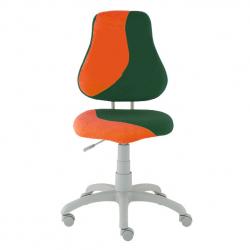 Rosnące krzesełko Alba Fuxo S Line Suedine pomarańczowo-ciemno zielone 575