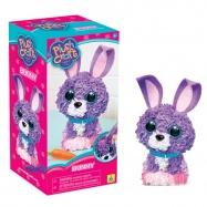 Pluszowe rękodzieło -fioletowy króliczek The Orb Factory