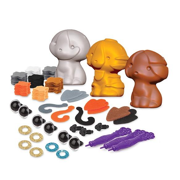 figurka kreativní 3 druhy, kočka 3D