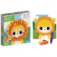 obrázek kreativní lev s textilem