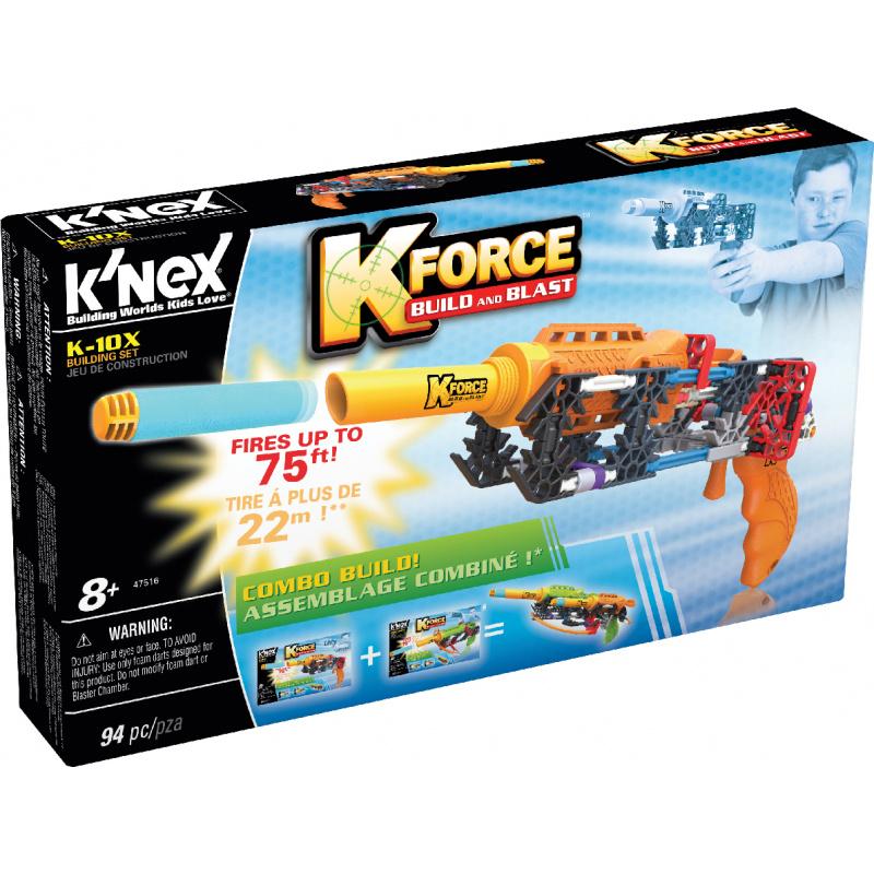 K NEX - zestaw pistoletu K-10X. 94 sztuki