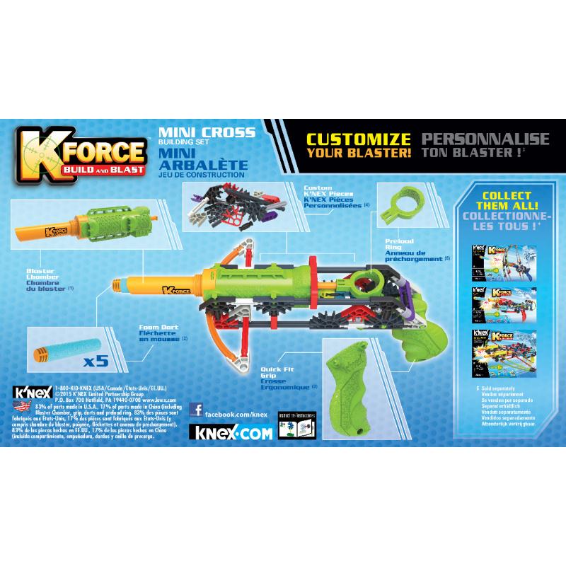 K NEX - zestaw pistoletu Mini Cross. 82 sztuki