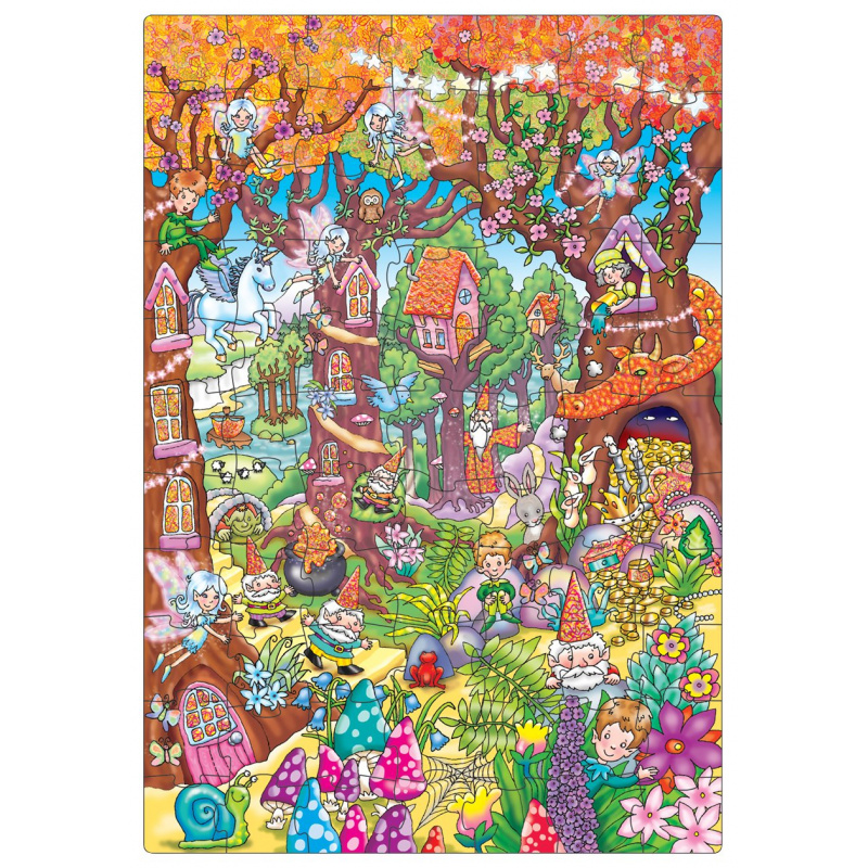 Orchard toys - Veľké puzzle čarovný les 75 dielikov