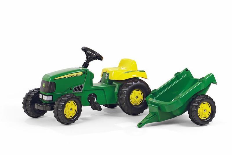 Šliapací traktor Rolly Kid J.Deere s vlečkou - zelený
