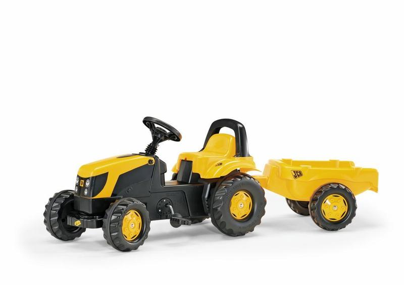 Šliapací traktor Rolly Kid JCB s vlečkou žltý