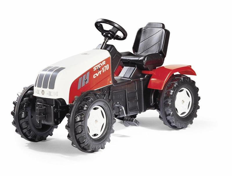 Šliapací traktor Steyr CVT 170 - červenobiely