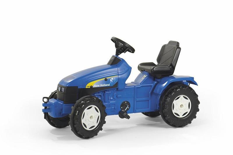 Šlapací traktor Holland TS 110-modrý