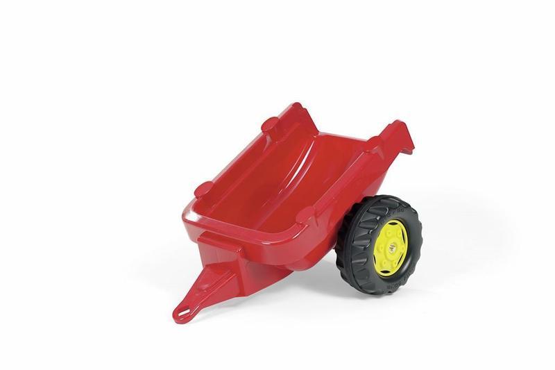 Vlečka za traktor 1osá - červená