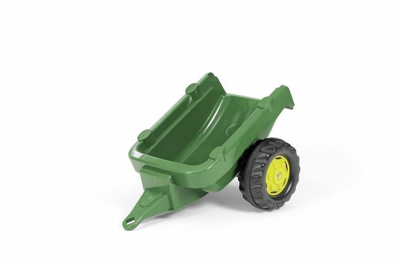 Vlečka za traktor 1osá - tmavozelená
