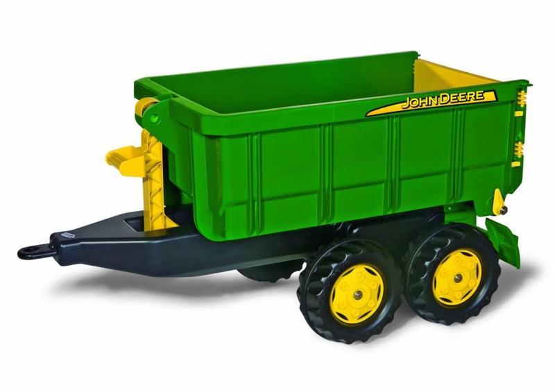 Vlečka za traktor John Deere vyklápěcí zelená