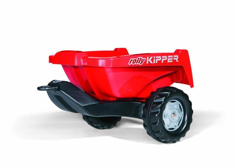 Vlečka za traktor KIPPER malá červená