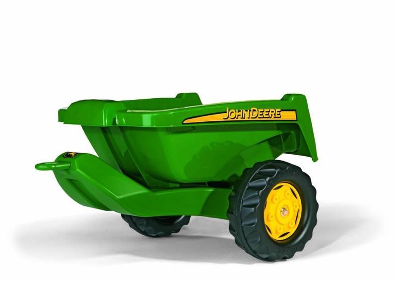 Vlečka za traktor John Deere malá zelená