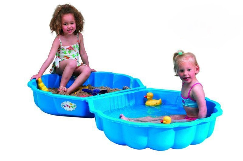 Pískoviště / bazének mušle modrá s víkem