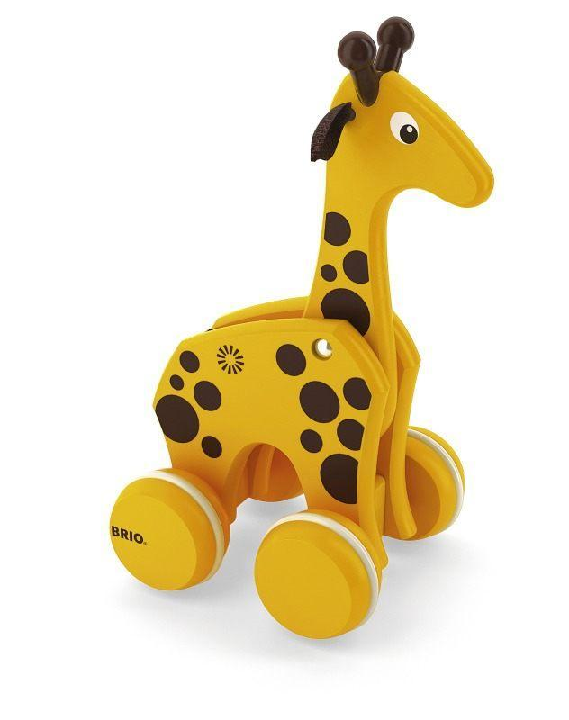 BRIO Żyrafa na kółkach ze sznurkiem
