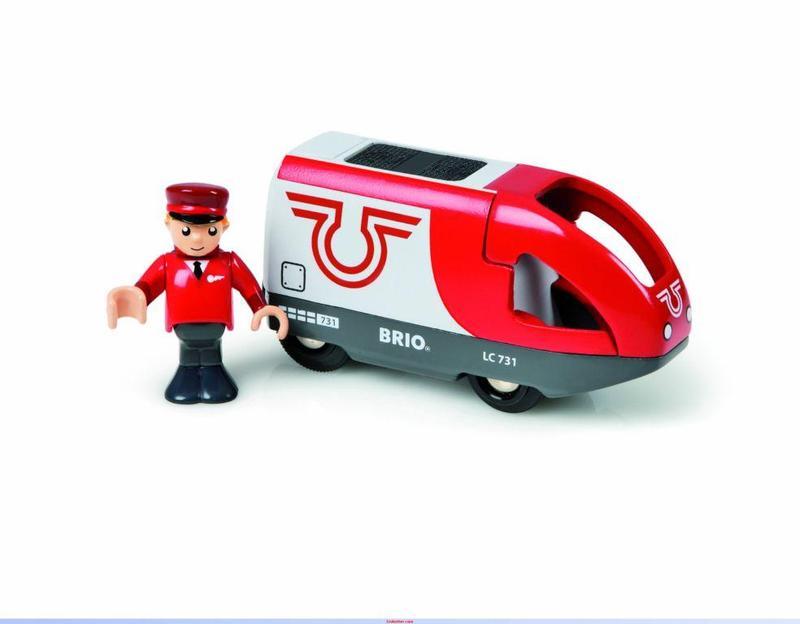Elektrická lokomotiva červeno-bílá