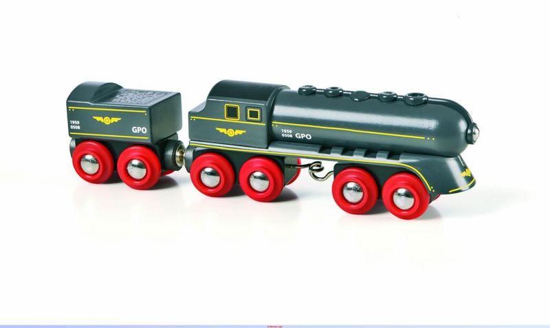 Rýchly šedý vlak s vagónom