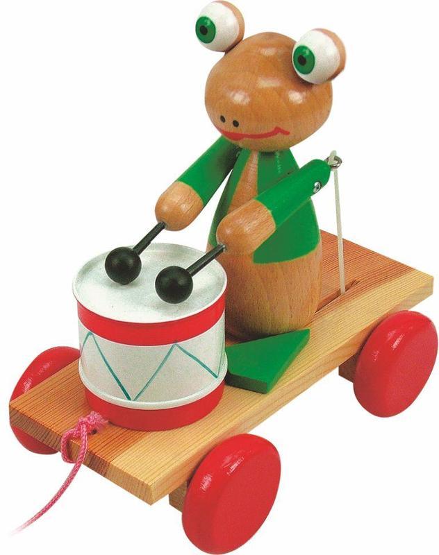 Woody - Jeżdżąca żabka z bębenkiem