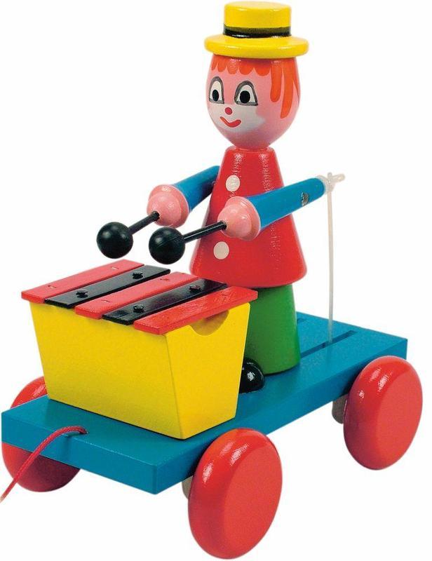Tahací klaun s xylofonem
