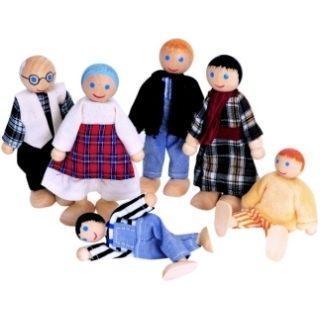 Woody lalki do domku, 6 sztuk