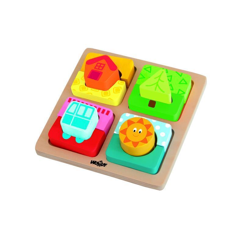 Destička s puzzle-tvary