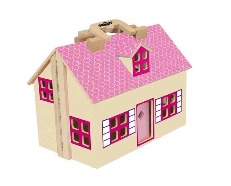 Woody Domeček pro panenky kufřík