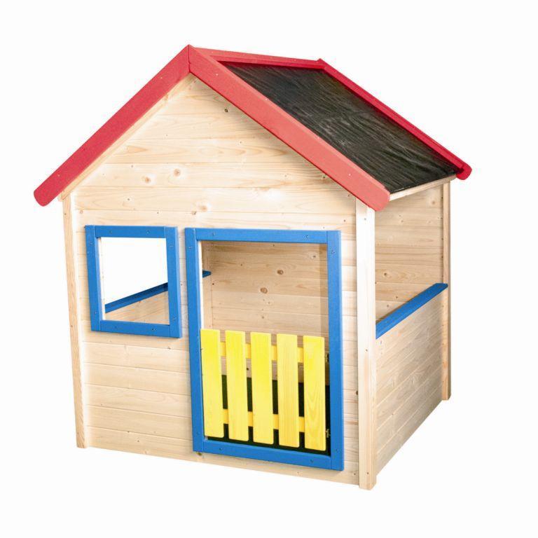 Detský zahradní domeček s barevným lemováním