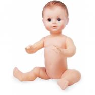 Petitcollin Koupací panenka sedící 40 cm (hnědé oči)