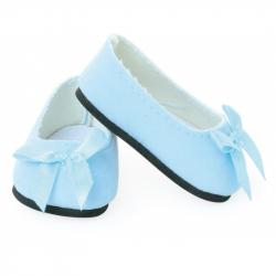 Petitcollin Balerínky modré s mašľou (pre bábiku 39-48 cm)