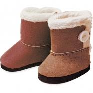 Petitcollin Zimní boty hnědé (pro panenku 39-48 cm)