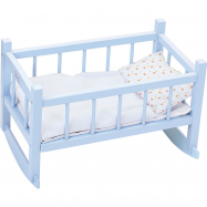 Petitcollin Dřevěná kolébka modrá