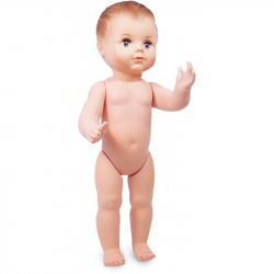 Petitcollin Koupací panenka 40 cm (hnědé oči)