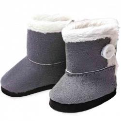 Petitcollin Zimné topánky sivé (pre bábiku 28 cm)