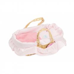 Petitcollin prutěný přenosný košíček pro panenku 28cm