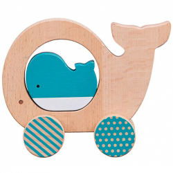 Petit Collage Veľryba a mláďa na kolieskach