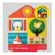 Petit Collage Puzzle Dwustronne Domek D&N