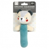 Petit Collage Organic Baby Squeaker | Bear
