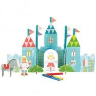 Petitcollage 3D puzzle Zámek s barvami